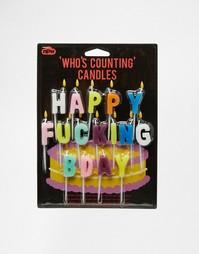 Свечки, составляющие надпись Happy Birthday - Мульти Gifts