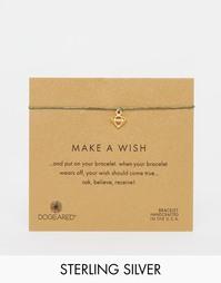 Позолоченный браслет с подвеской Dogeared Make A Wish - Золотой