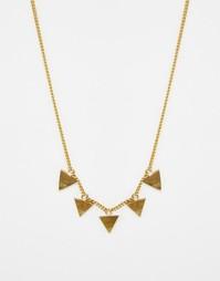 Ожерелье с треугольными подвесками Made - Золотой