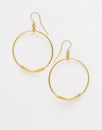 Серьги-кольца Made - Золотой