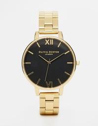 Золотистые часы с крупным циферблатом Olivia Burton - Золотой
