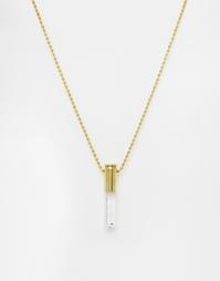 Ожерелье с прозрачным кварцем Lovebullets - Золотой