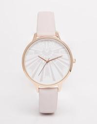 Часы с крупным циферблатом ASOS - Розовый