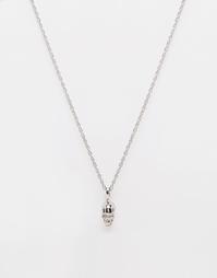 Ожерелье с подвеской-черепом Mister - Серебряный