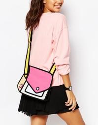 Сумка через плечо в стиле колор блок JumpFromPaper - Розовый