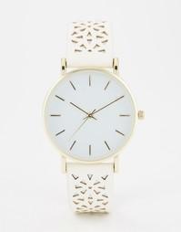 Часы с резным ремешком ASOS - Белый