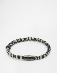 Браслет-шнурок с ацтекским узором Mister - Черный
