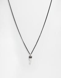 Ожерелье с кристаллом Icon Brand All Weekend - Черный