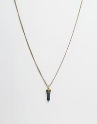 Ожерелье с кристаллом Icon Brand All Weekend - Золотой