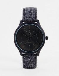 Часы с черным циферблатом и фетровым ремешком ASOS - Серый