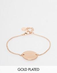 Широкий браслет с монетами и покрытием из розового золота Pilgrim