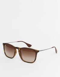 Квадратные солнцезащитные очки Ray-Ban Chris - Черепаховый