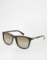 Солнцезащитные очки в D-образной оправе Michael Kors - Черный