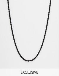 Черное ожерелье‑веревка Chained & Able - Черный