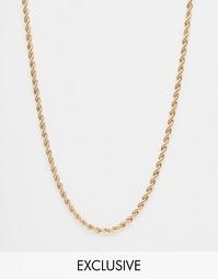 Золотое ожерелье-веревочка Chained & Able - Золотой
