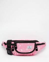 Розовая сумка-кошелек на пояс в крапинку Hype - Розовый
