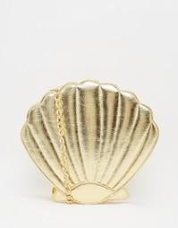 Золотистая сумка через плечо Skinnydip - Золотой
