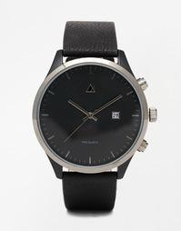 Черные часы с окошком с датой ASOS - Черный