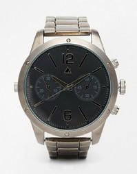 Часы-браслет в стиле Oversize из темно-серого металла ASOS - Черный