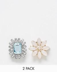 Комплект из 2 брошей с камнями ASOS - Crystal