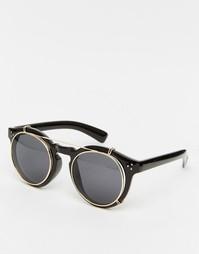 Круглые солнцезащитные очки в темной оправе Jeepers Peepers - Черный