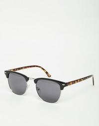 Винтажные солнцезащитные очки черной и черепаховой расцветки ASOS