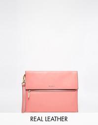 Кожаный клатч Modalu - Розовая герань