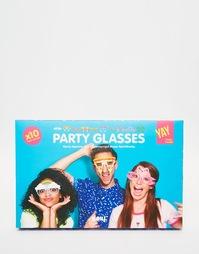 Бумажные очки для вечеринки Doiy Crazy, 10 шт. - Мульти