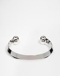 Массивный серебристый браслет-гривна ASOS - Серебряный