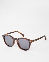 Круглые солнцезащитные очки в черепаховой оправе Le Specs Bandwagon