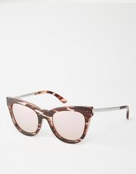 Солнцезащитные очки кошачий глаз с розовыми линзами Le Specs Le Debuan