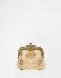 Клатч с бисером в винтажном стиле Neve & Eve - Peach