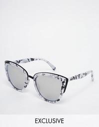 Зеркальные солнцезащитные очки в мраморной оправе Quay Australia My Gi