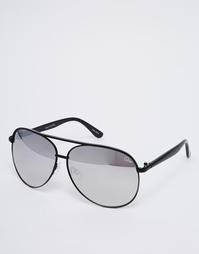 Солнцезащитные очки-авиаторы с зеркальными стеклами Quay Australia Mac