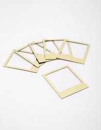 Магнитные золотистые рамки в стиле Polaroid от Doiy - Золотой