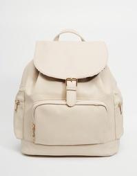 Рюкзак с карманами Yoki Fashion - Кремовый