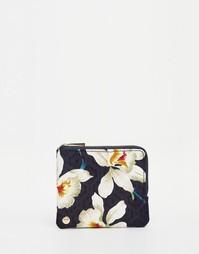 Кошелек для монет с орхидеями Mi-Pac - Темно-синий