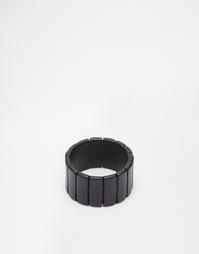 Черное кольцо с полосками ASOS - Черный