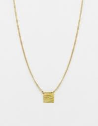 Квадратная кованая подвеска Made - Золотой
