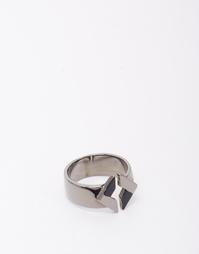 Кольцо с геометрическим дизайном и отделкой из разных металлов ASOS