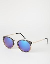 Круглые двуцветные солнцезащитные очки Jeepers Peepers - Черный