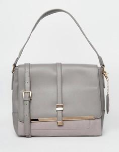 Большая сумка на плечо Little Mistress - Серый