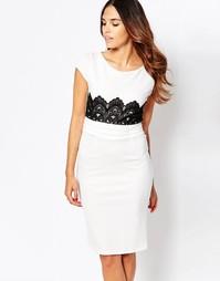 Платье-футляр с отделкой кроше Jessica Wright Ivy - Белый