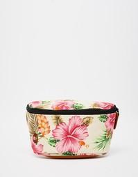 Сумка-кошелек на пояс с тропическим цветочным принтом Mi-Pac - Nautral