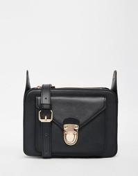 Маленькая сумка через плечо с застежкой Monki - Черный