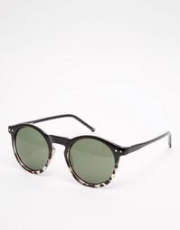 Круглые солнцезащитные очки ASOS - Коричневый