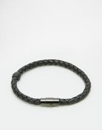 Плетеный браслет Mister - Черный