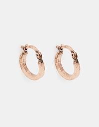 Серьги-кольца цвета шлифованной меди ASOS - Шлифованная медь