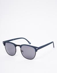 Солнцезащитные очки в стиле ретро с темно-синим верхом ASOS