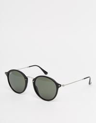 Солнцезащитные очки с металлической переносицей Ray-Ban - Черный